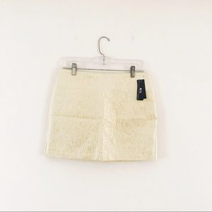 BCX: shimmer gold mini skirt